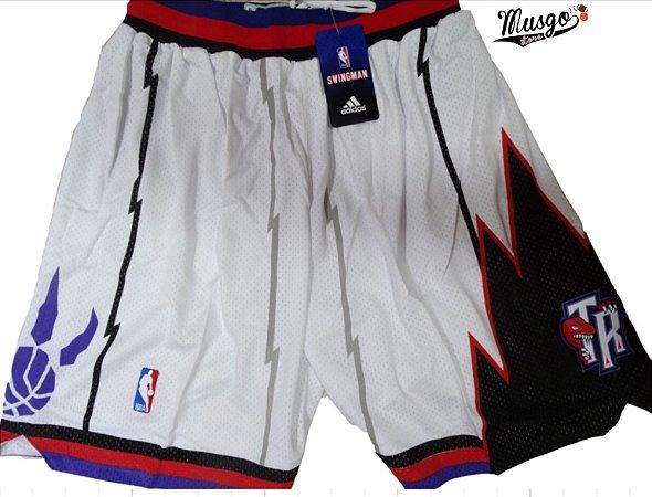 Bermuda Esportiva Basquete NBA Toronto Raptors Classic Branca