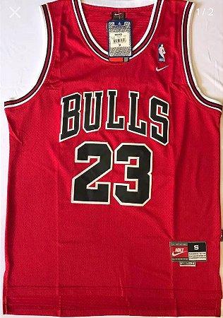 Camiseta Esportiva Regata Basquete NBA Chicago Bulls Michael Jordan Classic red Numero 23 Vermelha