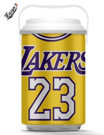Cooler Basquete NBA Los Angeles Lakers Lebron James #23 amarelo