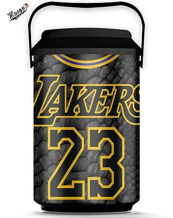 Cooler Basquete NBA Los Angeles Lakers Lebron James #23 Black