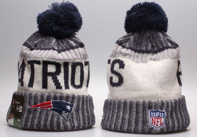 Gorro Esportivo Futebol Americano NFL New England Patriots gray