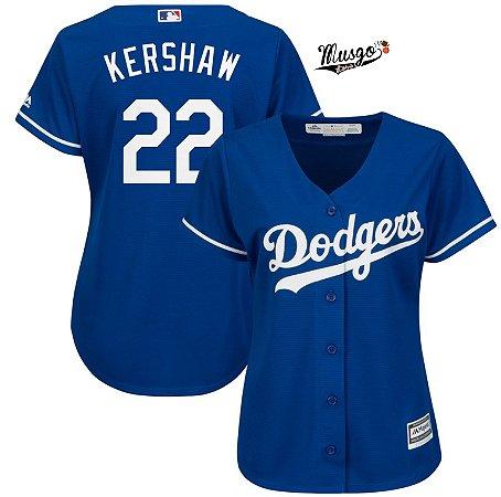 Camisa Baseball MLB Feminina Los Angeles Dodgers #22