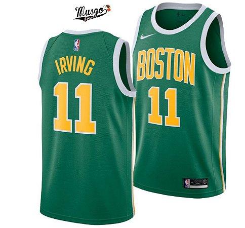 Camiseta Regata Basquete NBA Boston Celtics Earned Edititon Kirie Irving Numero 11