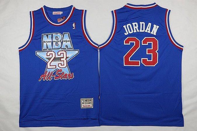 Camiseta Esportiva Regata Basquete NBA All Star Game 1992 Michael Jordan Numero 23 Azul