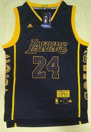 Camiseta Regata Esportiva Basquete Los Angeles Lakers Edicao Limitada Consertine Kobe Bryant Numero 24