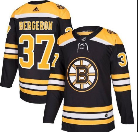 Camisa Esportiva Hockey NHL Boston Bruins Patrice Bergeron Numero 37