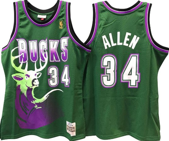 Camiseta Regata Basquete NBA Milwalkee Bucks Ray Allen #34