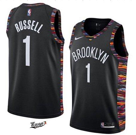 Camiseta Esportiva Regata Basquete NBA Brooklyn Nets D'angelo Russel #1