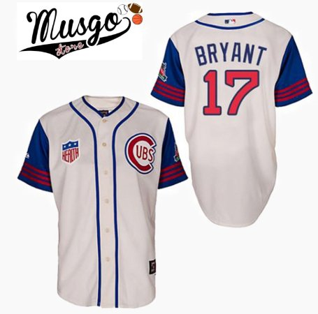 Camisa Baseball MLB Chicago Cubs Cris Bryant #17 Retro