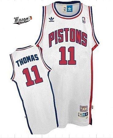 Camiseta Regata Basquete NBA Detroit Pistons Isiah Thomas #11 Branca