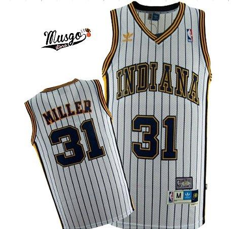 Camiseta Regata Basquete NBA Indiana Pacers Reggie Miller #31 Branca