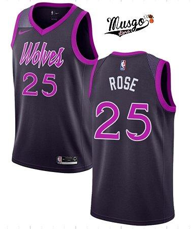 Camiseta Regata Basquete NBA Minnessota Timberwolves Derrick Rose #25 Roxa