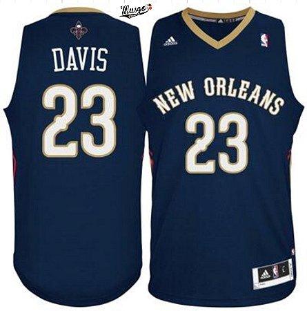 Camiseta Regata Basquete NBA New Orleans Pelicans Antony Davis #23 Azul Marinho