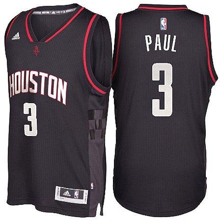 Camiseta Regata Basquete NBA Houston Rockets Chris Paul #3 Preta