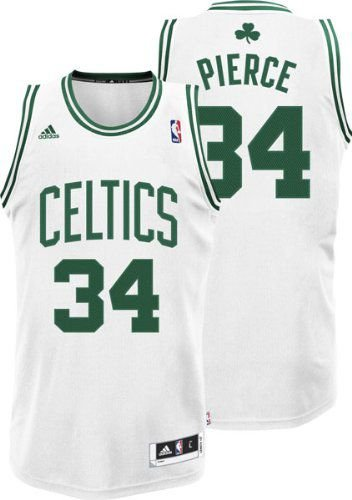 Camiseta Regata Esportiva Basquete NBA Boston Celtics Paul Pierce Numero 34 Branca