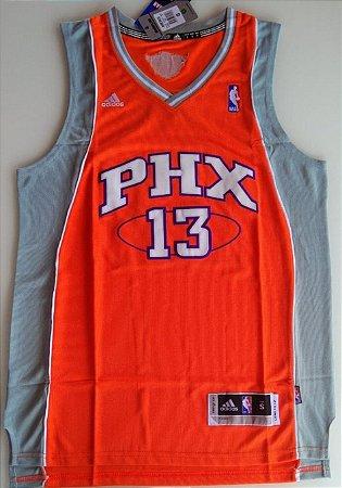 Camiseta Regata Esportiva Basquete NBA Phoenix Suns Steve NASH Numero 13 Laaranja