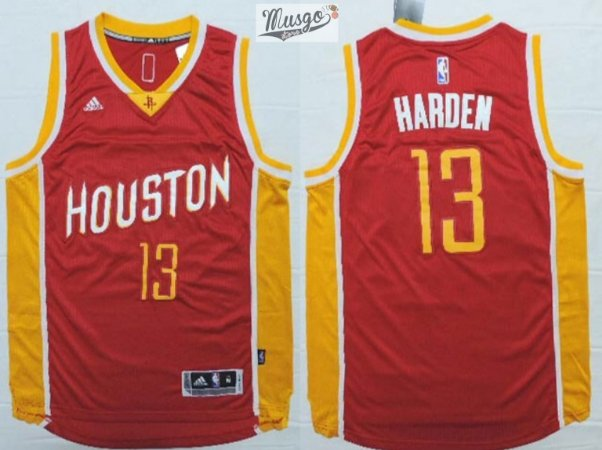 Camiseta Esportiva Regata Basquete NBA Houston Rockets James Hardem Numero 13 Vermelha Retro