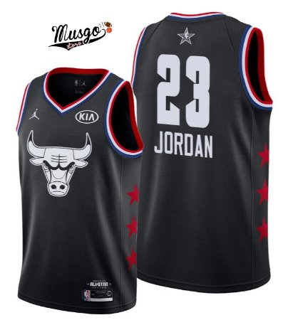 Camiseta Regata Basquete NBA All Star Game 2019 Chicago Bulls Michael Jordan #23 Preta