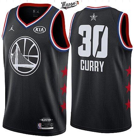 Camiseta Regata Basquete NBA All Star Game Golden State Warriors Steph Curry #30 Preta