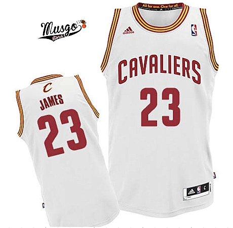 Camiseta Regata Basquete NBA Cleveland Cavaliers Lebron James #23 Branca