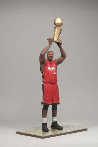 Boneco Miniatura Basquete NBA Shaquille O'Neal Miami Heat Número 32