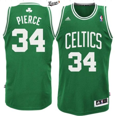 Camiseta Esportiva Regata Basquete NBA Boston Celtics Paul Pierce Número 34 Verde