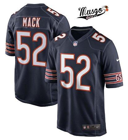 Camisa Futebol Americano NFL Chicago Bears Kalil Mack Número 52