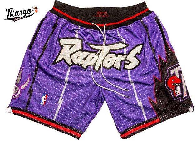 Short Esportivo Basquete NBA Toronto Raptors Classic Roxo