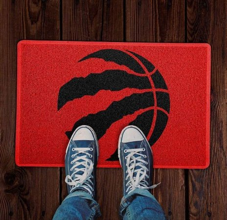 Tapete Capacho esportivo NBA Toronto Raptors vermelho