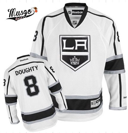 Camisa Esportiva Hockey NHL Los Angeles Kings Drew Doughty Número 8 Branca