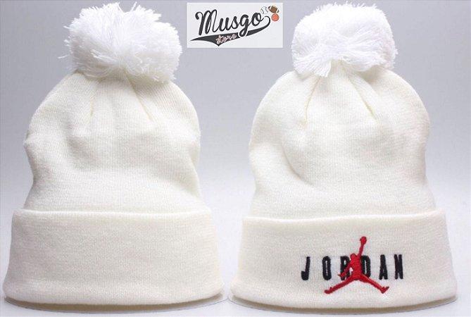 Gorro Esportivo Basquete Air Jordan Logo Branco
