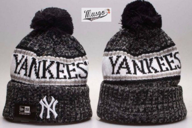 Gorro Esportivo Baseball MLB New York Yankees 9Preto CInza