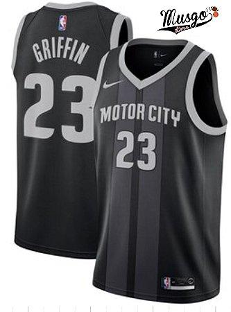 Camiseta Regata Esportiva Basquete NBA Detroit Pistons Motor City Blake Griffin Número 23