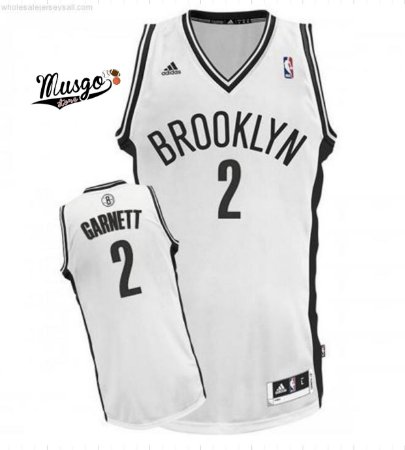Camiseta Regata Esportiva Basquete NBA Brooklyn Nets Kevin Garnett Número 2 Branca
