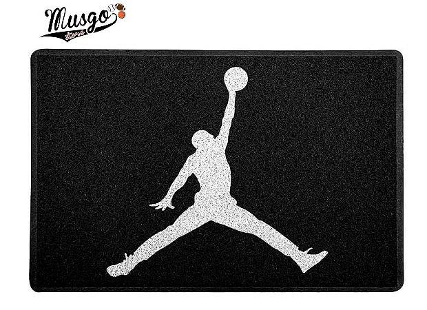 Tapete Capacho Esportivo Basquete Air Jordan Logo preto