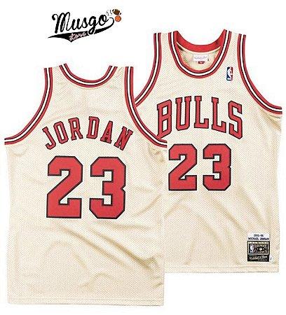 Camiseta Esportiva Basquete NBA Chicago Bulls Michael Jordan Número 23 Dourada Edição Limitada