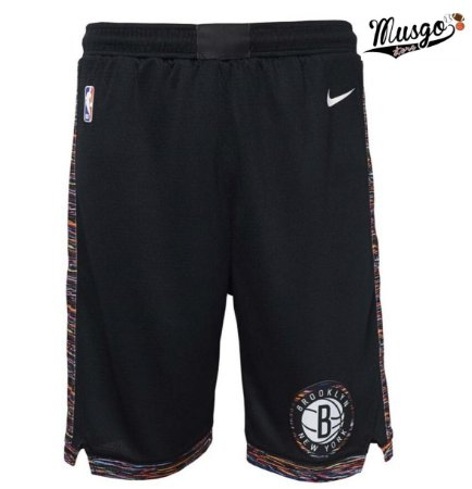 Bermuda Esportiva Basquete NBA Brooklyn Nets City Edition Preto