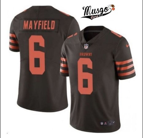 Camisa esportiva Futebol Americano NFL Cleveland Browns Baker Mayfield Número 6 Marron