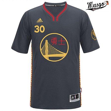Camisa Esportiva Basquete NBA Golden State Warriors Steph Curry Numero 30 Edição Ano Novo Chinês