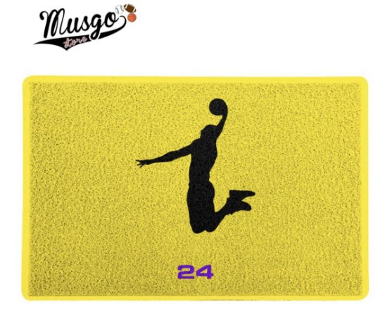 Tapete Esportivo Capacho Kobe Bryant Logo Dunk Amarelo