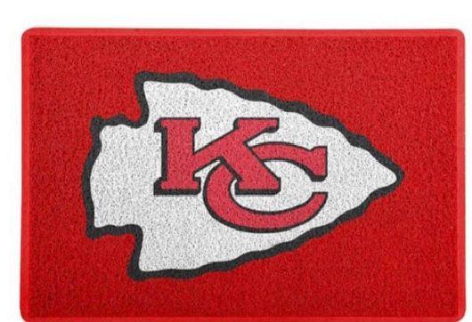 Tapete Esportivo Capacho Futebol Americano NFL Kansas City Chiefs Vermelho