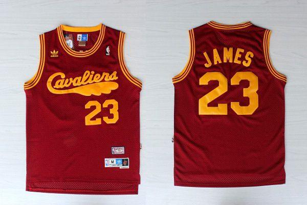 Camiseta Regata Esporte Basquete NBA Cleveland Cavaliers Lebron James Número 23 Classica Retro Vinho