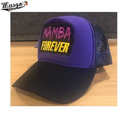 Boné Esporte Musgo Store Kobe Bryant Mamba Forever Roxo