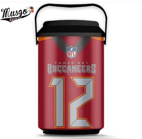 Cooler Esporte Futebol Americano NFL Tampa Bay Buccaneers Tom Brady Número 12 Vermelho