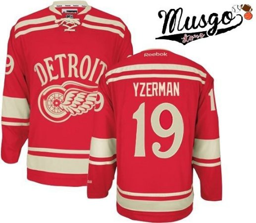 Camisa Esporte NHL Hockey Detroit Red Wings Steve Yzerman Número 19 Vermelha