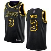 Camiseta Regata Esporte Basquete NBA Los Angeles Lakers Anthony Davis Número 3 Preta