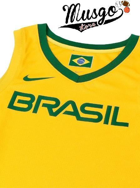 Camiseta Regata Esporte Basquete Seleção Brasileira Leandro Barbosa Número 19 Amarela