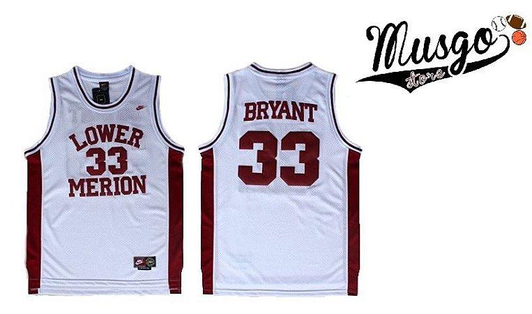 Camiseta Regata Esporte Basquete Colegial Lower Merion  Kobe Bryant Número 33 Branca