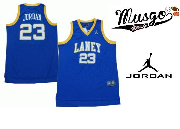 Camiseta Regata Basquete Colegial Laney High School Michael Jordan Número 23 Azul