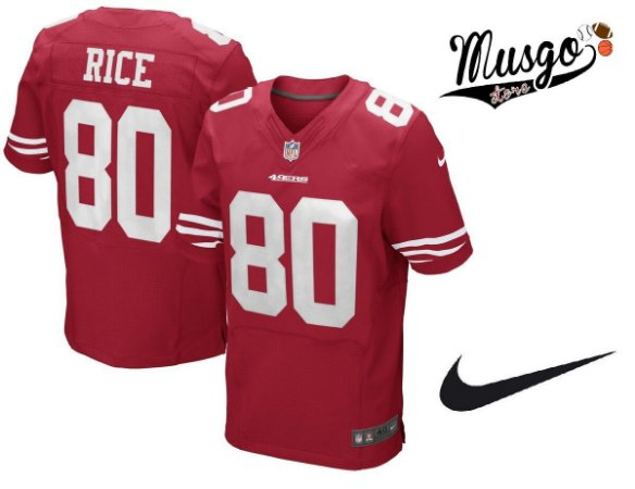 Camisa Nike Esporte Futebol Americano NFL San Francisco 49ers Jerry Rice Número 80 Vermelha